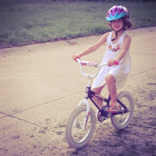 Sophia on Bike