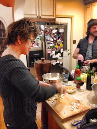 Susan cooking
