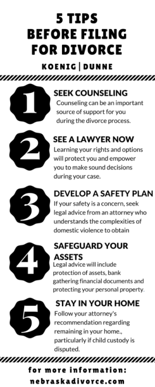 Infographic for Blog - 5 Tips Before Filing for Divorce